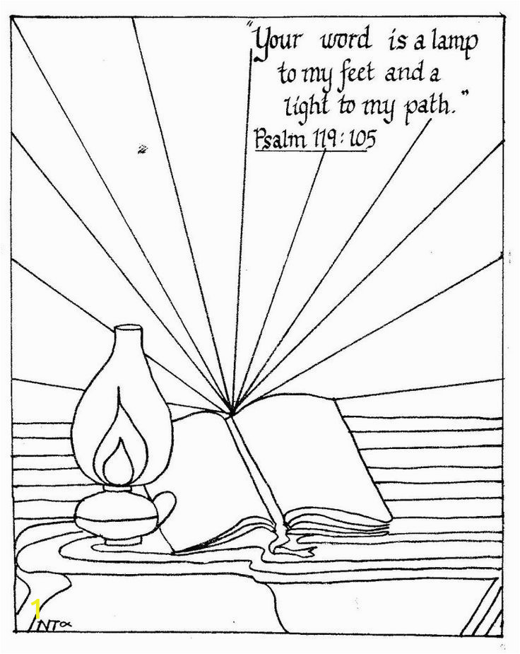 Your Word is A Lamp Unto My Feet Coloring Page 1