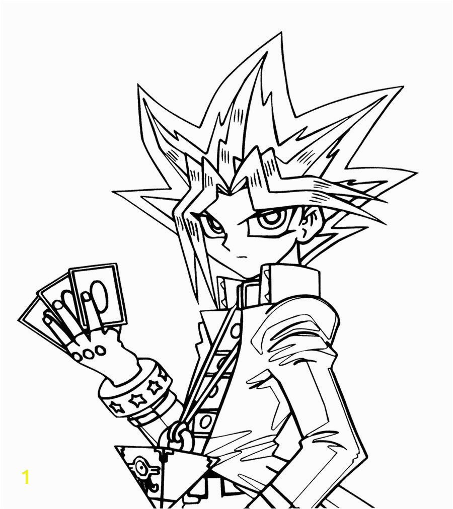 Yugioh Cards Coloring Pages Yu Gi Oh Will Put Three Cards Coloring Page for Kids