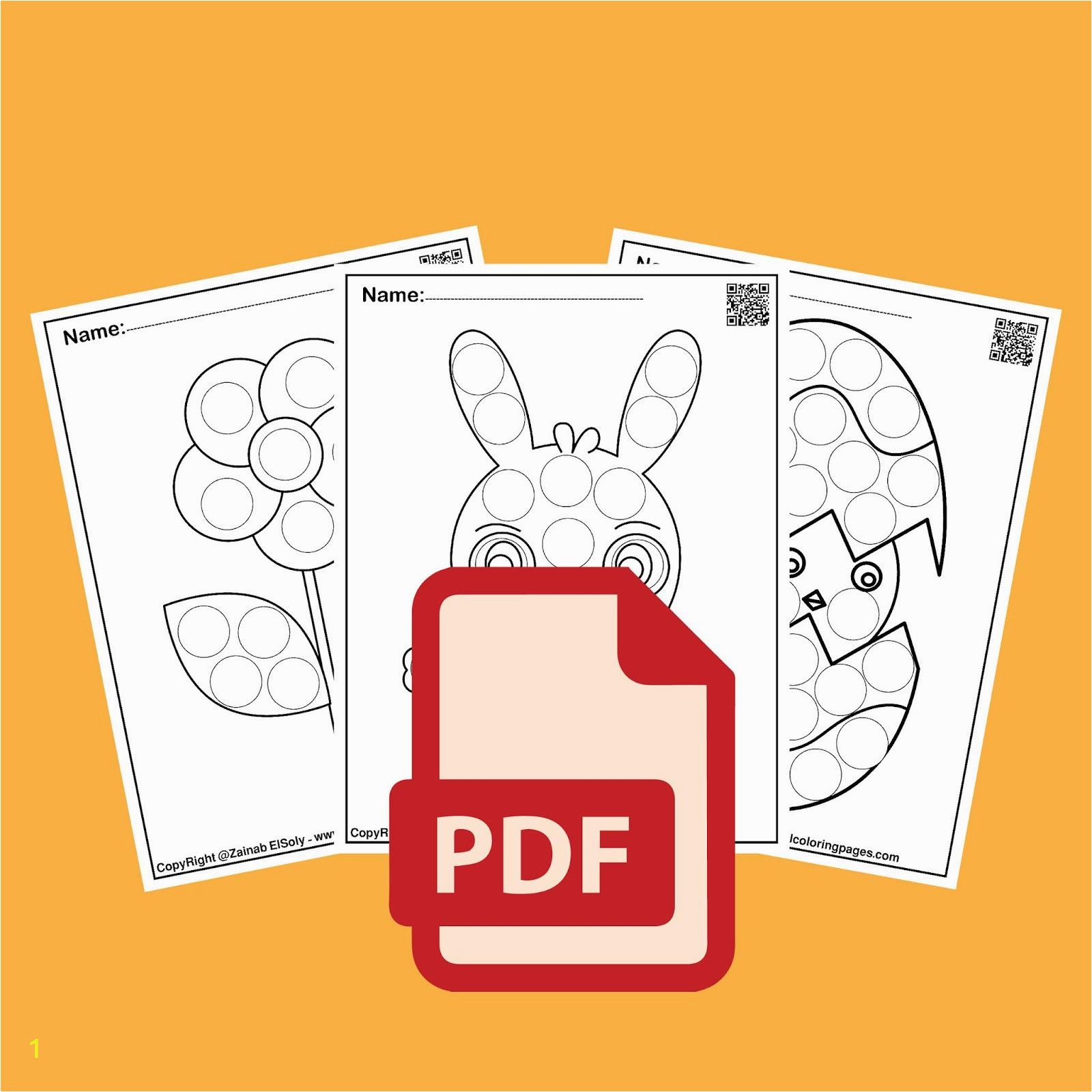 1 activities for spring do a dot marker preschool coloring pages free printable for kids pdf book 01