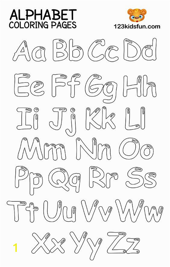 Alphabet Coloring Pages A-z Printable Free Printable Alphabet Coloring Pages for Kids with Images