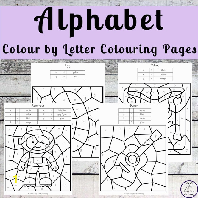 Alphabet Colour by Letter Colouring Pages b min