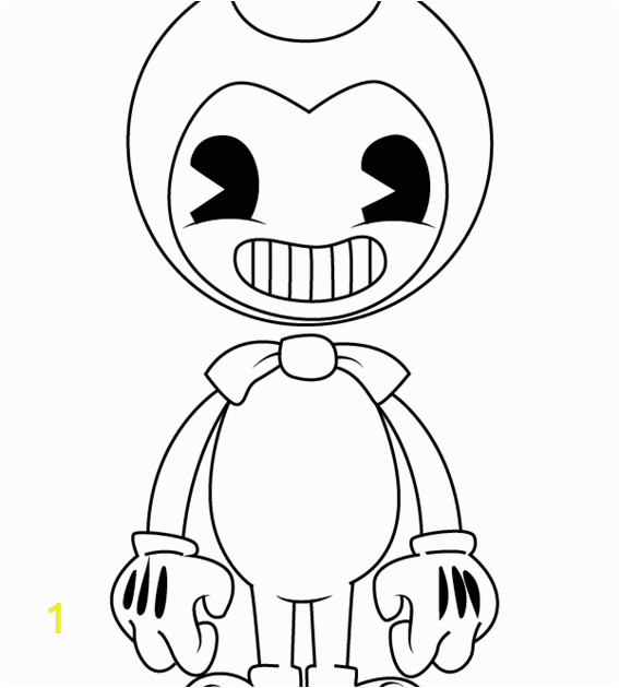 Bendy and the Ink Machine Coloring Pages Printable Best Bendy Coloring Pages to Print Coloringpgs