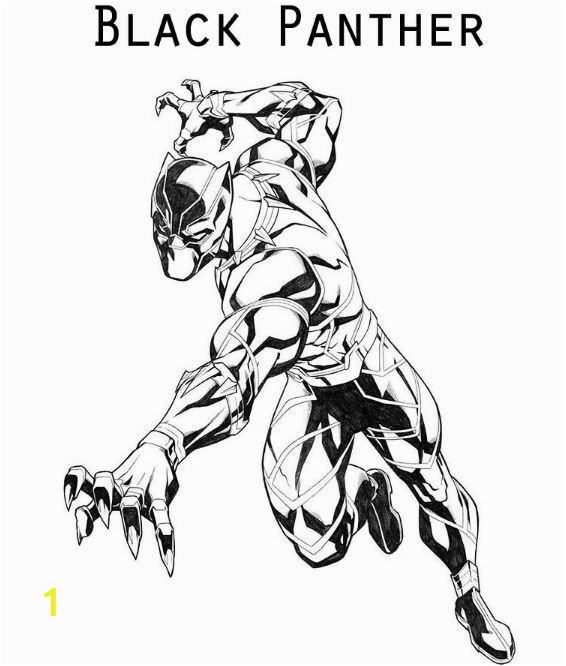 Black Panther Printable Coloring Page