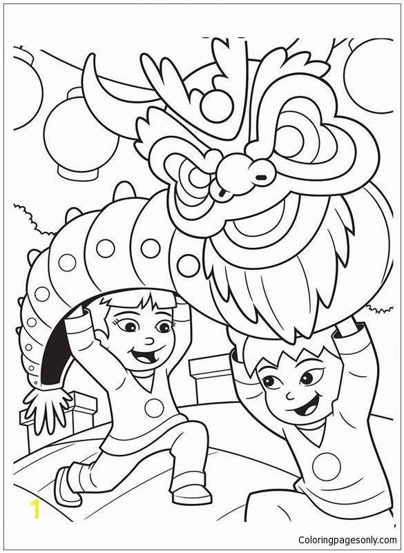 Chinese New Year Coloring Pages Pin by Liz Mclennan On Chinese New Year