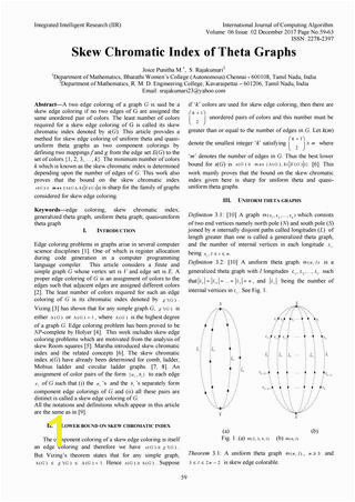 Chromatic Number In Edge Coloring Skew Chromatic Index Of theta Graphs by Ijcoaeditoriir issuu