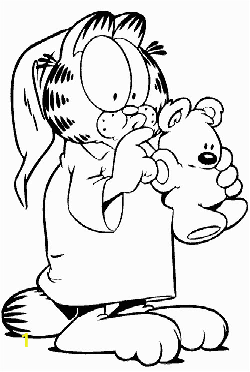 Color by Number Cat Coloring Pages Garfield