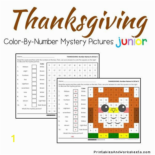 thanksgiving color by number place value JPG