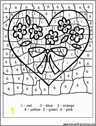 """Color by Number Valentine Coloring Pages Search Results for """"valentine"""
