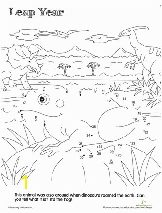 Coloring Dot to Dot Pages Dino Dot to Dot Prehistoric Frog with Images