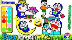 Coloring Kitty and Painting Doraemon for toddlers 183 Best Drawing and Coloring Images