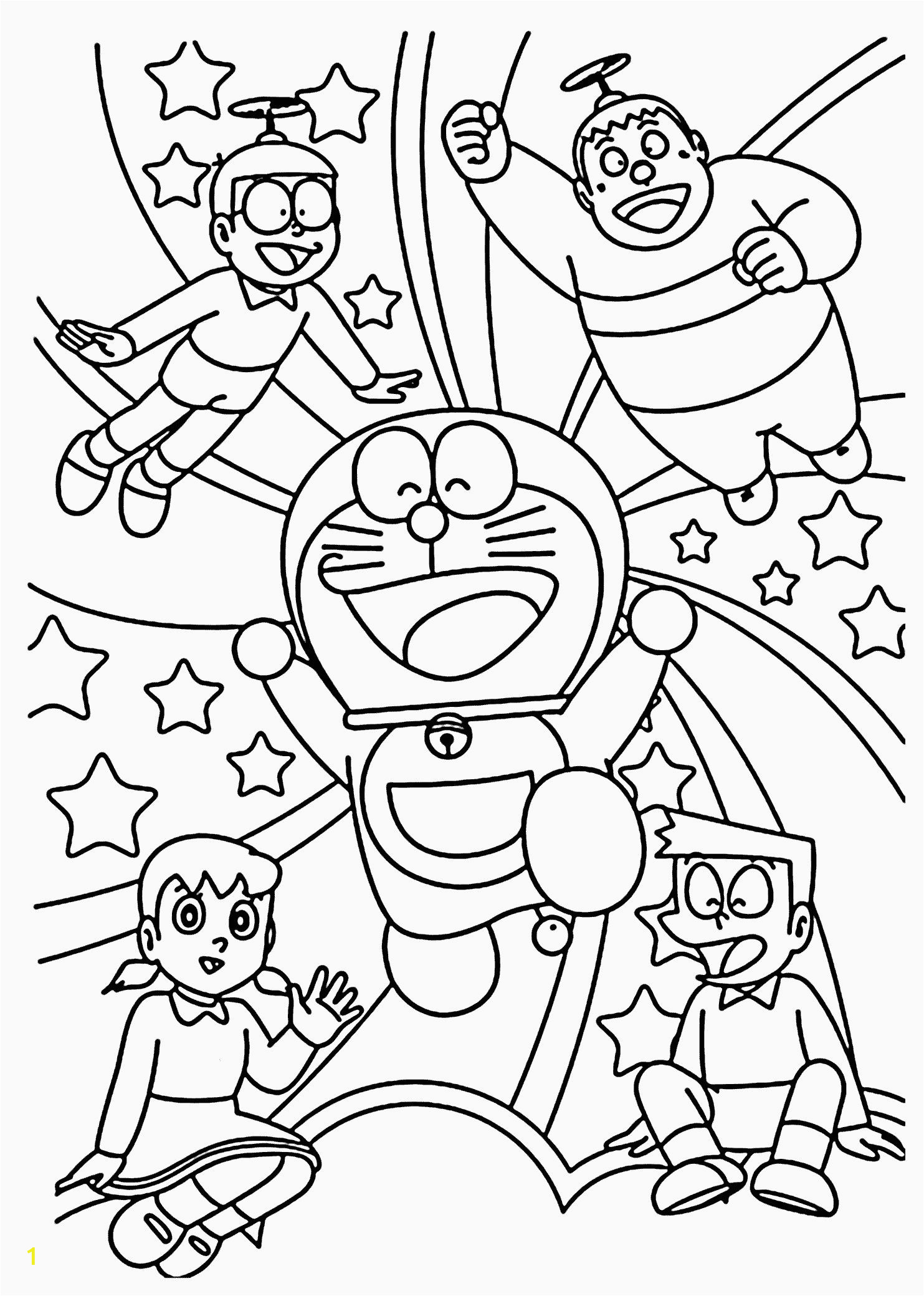Coloring Kitty and Painting Doraemon for toddlers Cartoon Coloring Book Pdf In 2020