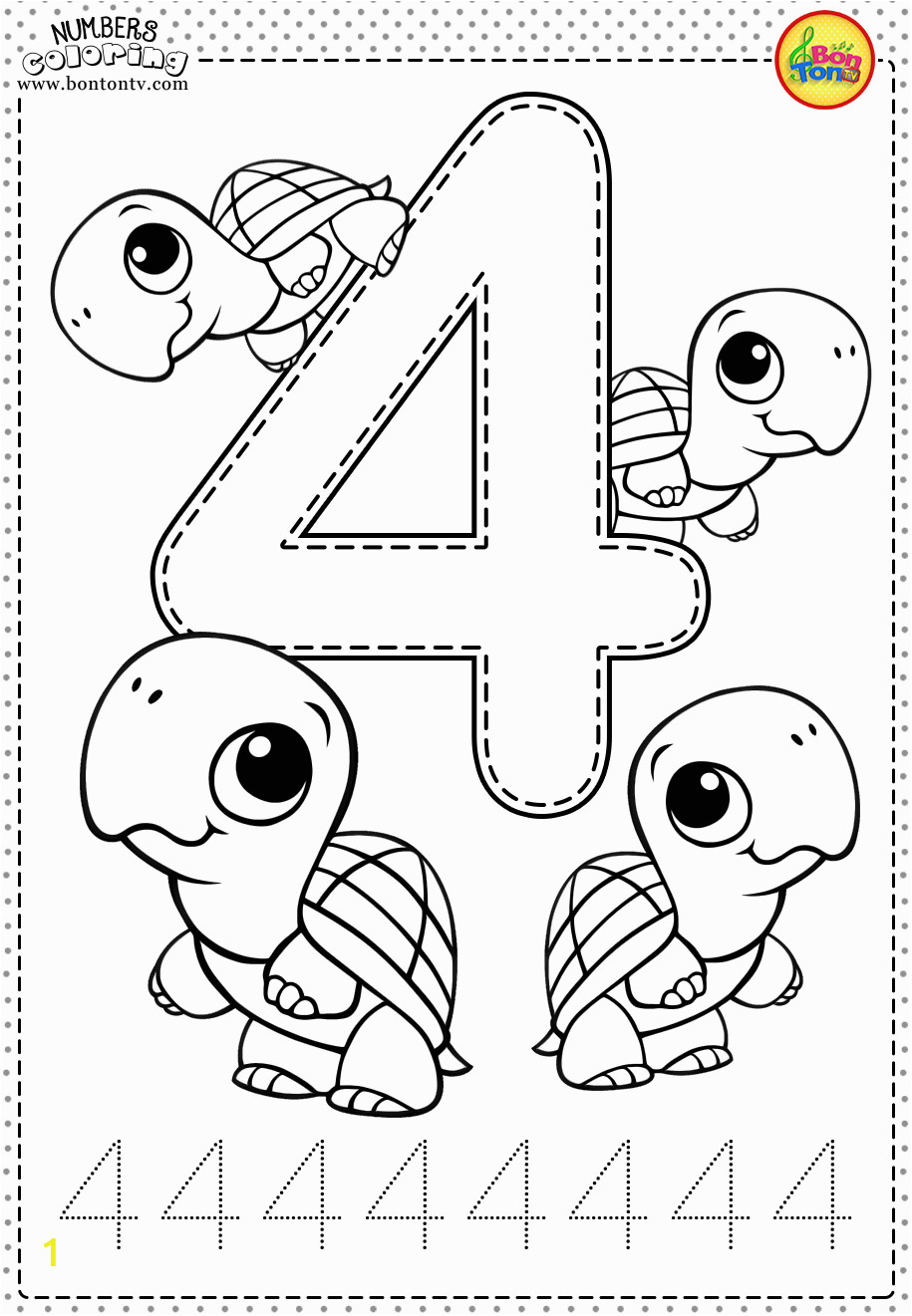 Coloring Number Pages for Kindergarten Number 4 Preschool Printables Free Worksheets and