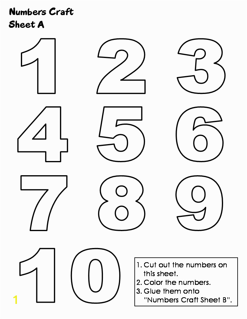 Coloring Number Pages for Kindergarten Numbers to Print Out