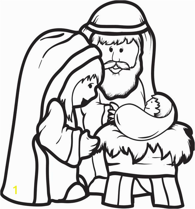 nativity coloring picture