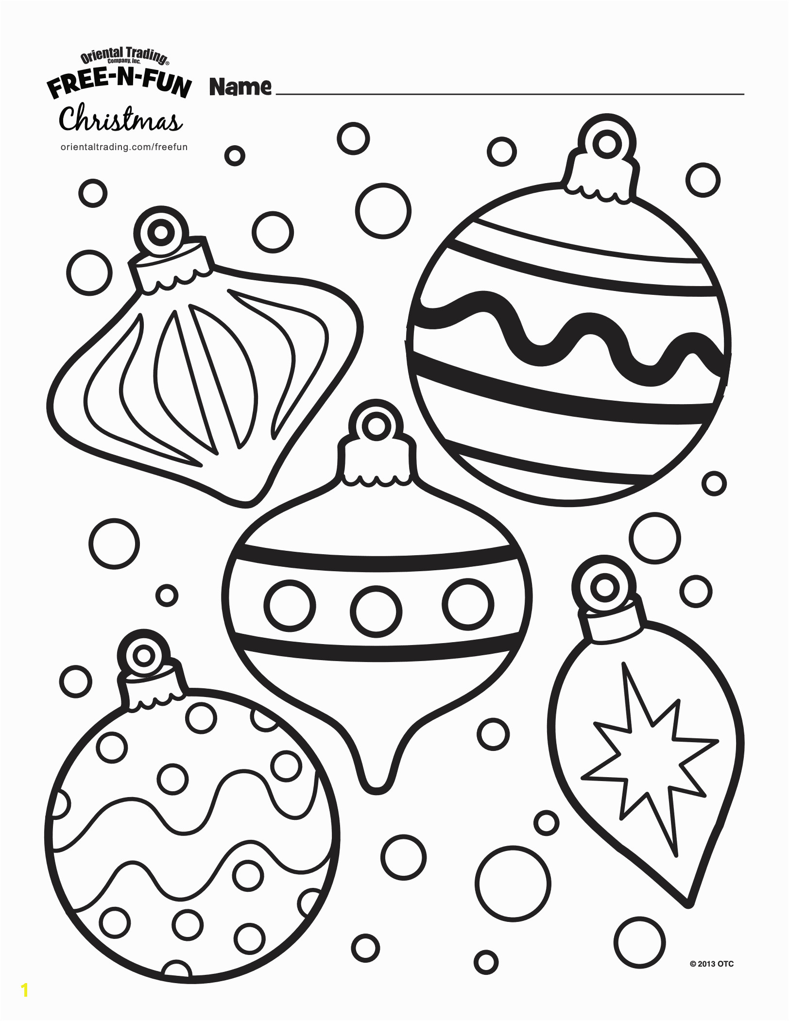 Coloring Pages Christmas ornaments Printable Printable Christmas Colouring Pages