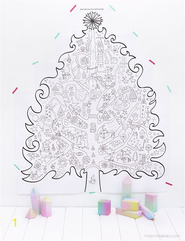 Coloring Pages Christmas Tree Printable Free Printable Giant Christmas Tree Coloring Pages