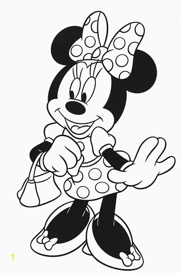 Coloring Pages Disney Minnie Mouse √ 24 Minnie Mouse Coloring Page In 2020 with Images