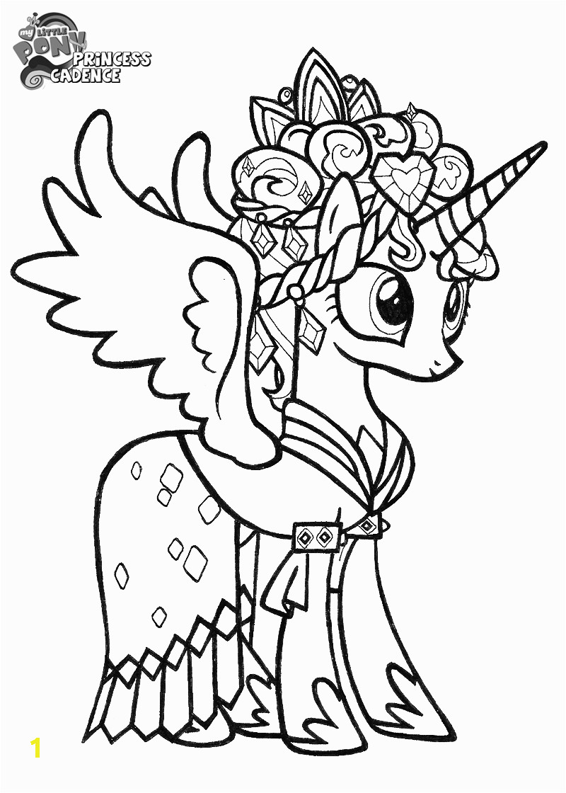 Coloring Pages Disney My Little Pony theme Prince Cadence – My Little Pony