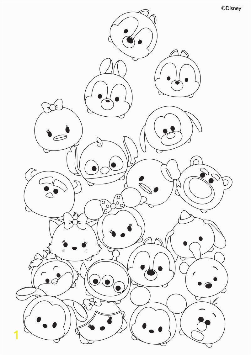 Coloring Pages Disney Tsum Tsum Cute Tsum Tsum Coloring Pages Printable Activity Sheets In