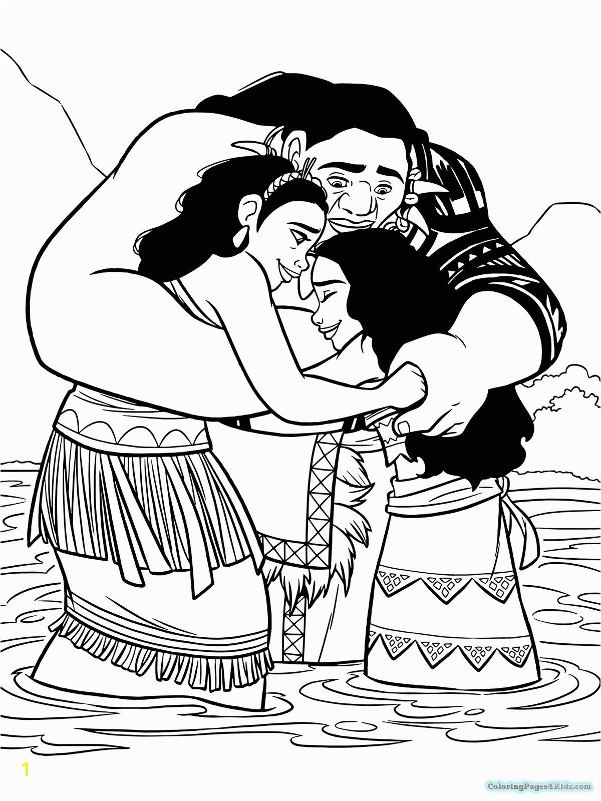 coloring easy printable for kids to print moana the