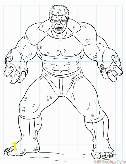 hulk 0 how to draw
