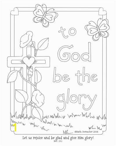 Coloring Pages for Easter Sunday Glory Of the Lord Coloring Page