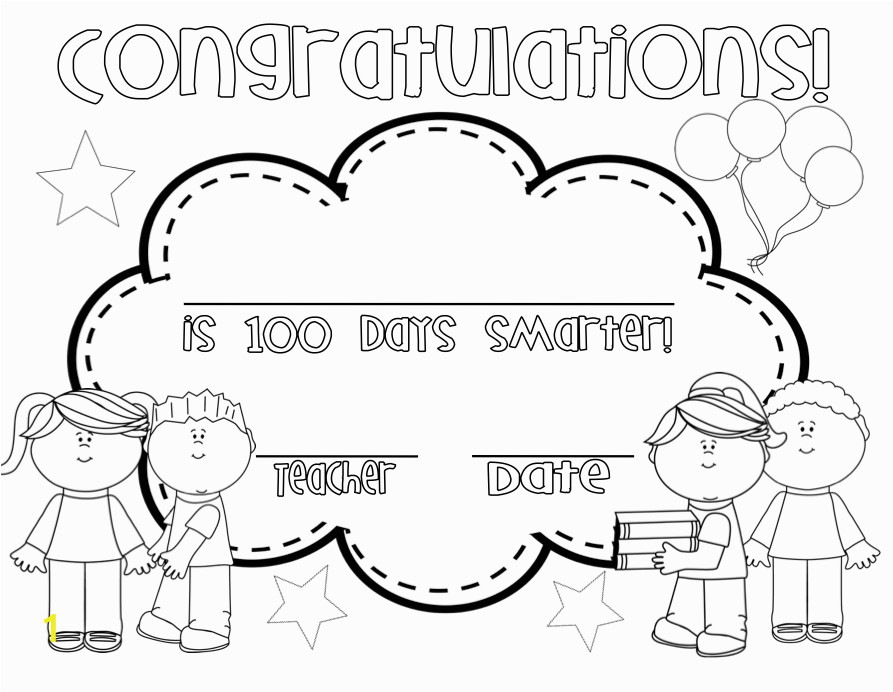 100th day of school coloring page 0026 q1