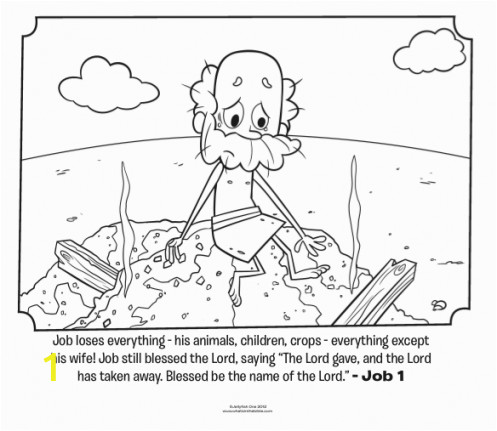 Coloring Pages for Job In the Bible 55 Best Job Images