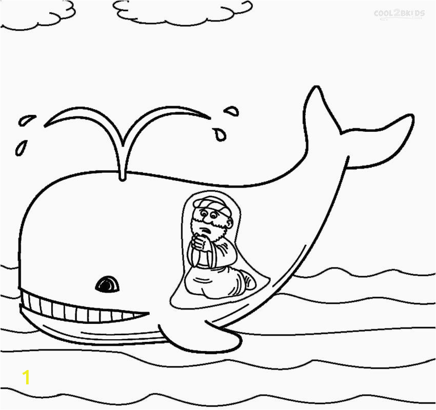 Coloring Pages for Jonah and the Whale 28 Jonah and the Whale Coloring Page In 2020