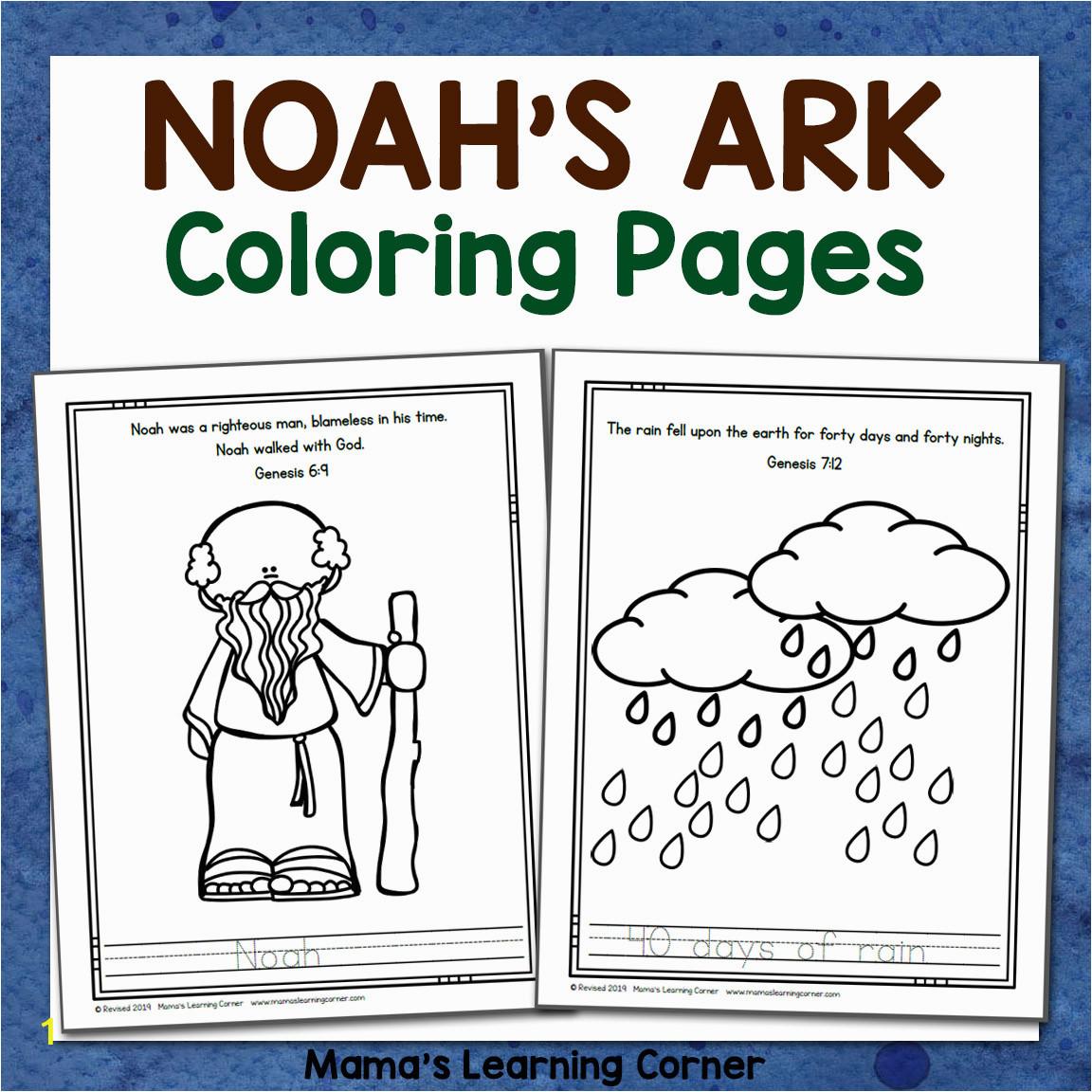 Noahs Ark Coloring Pages 8x8