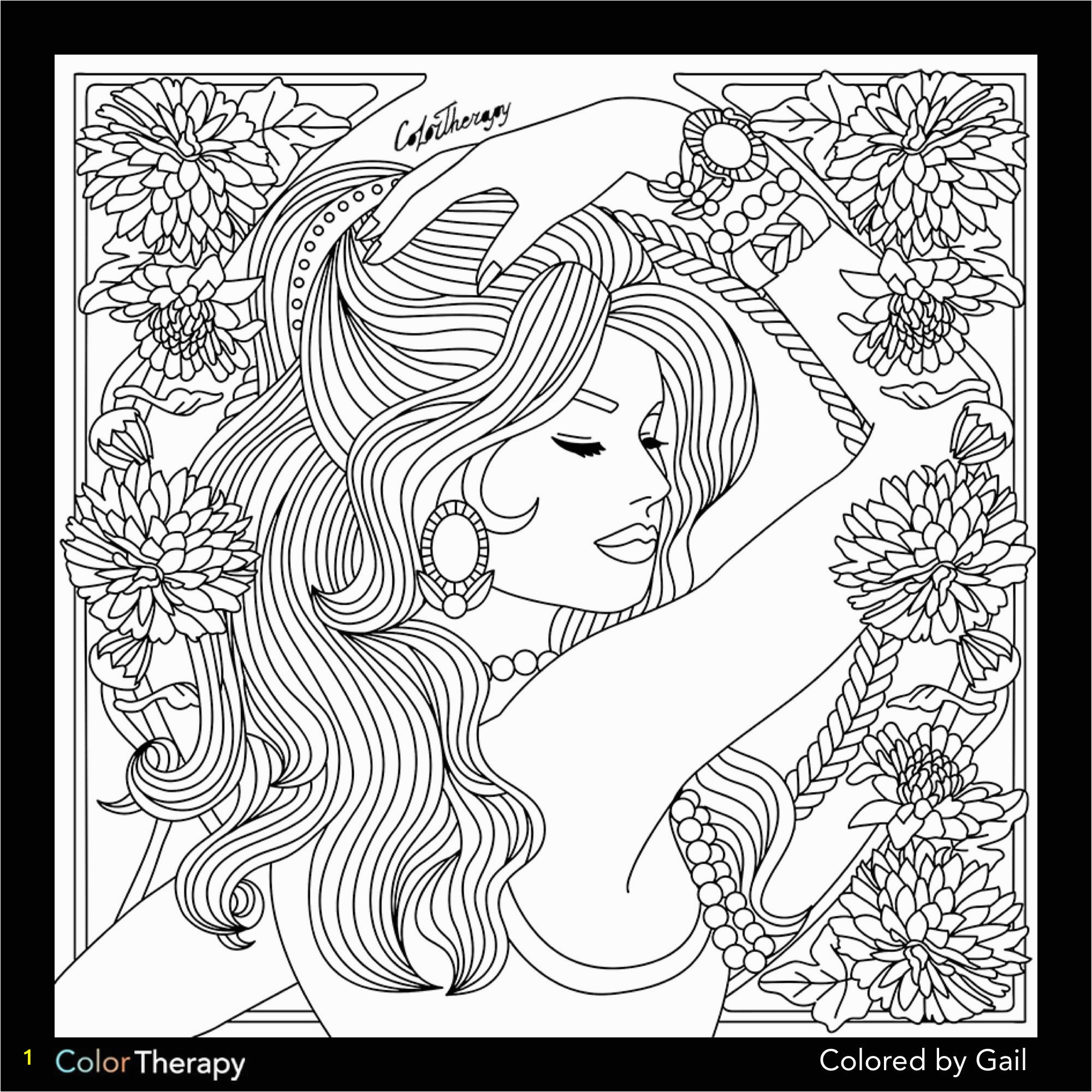 Coloring Pages for Occupational therapy I Colored This Myself Using Color therapy App It Was so Fun