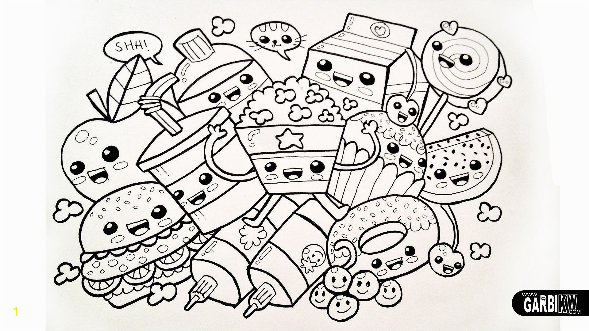 coloring pages free printable books for toddlers lovely kawaii animal of