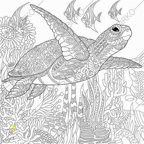 Coloring Pages for Ocean Animals Coloring Pages for Adults Sea Turtle Adult Coloring Pages