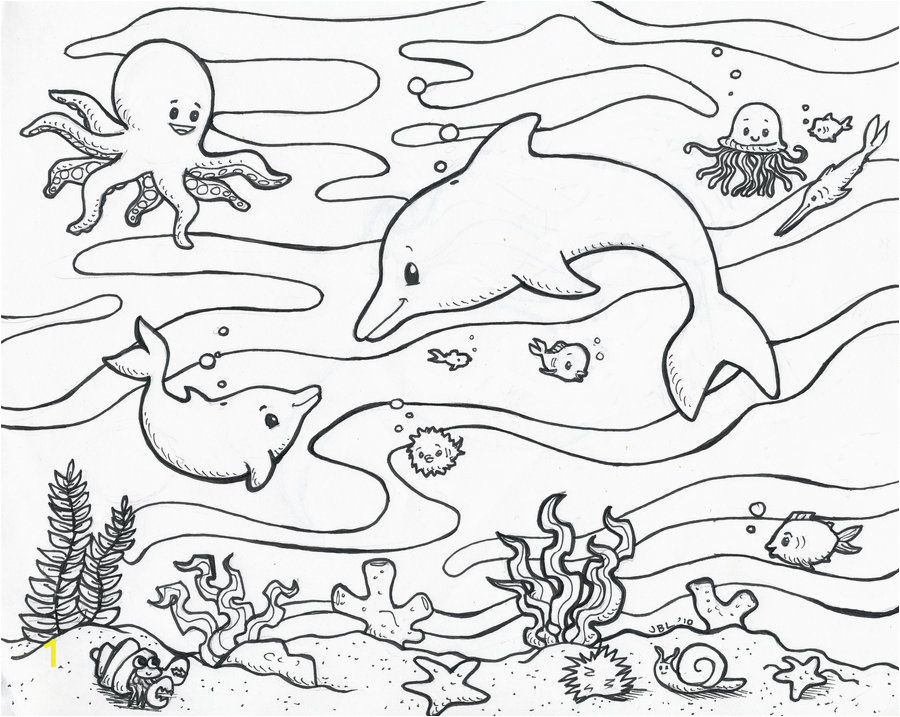 Coloring Pages for Ocean Animals Sea Life Coloring Pages
