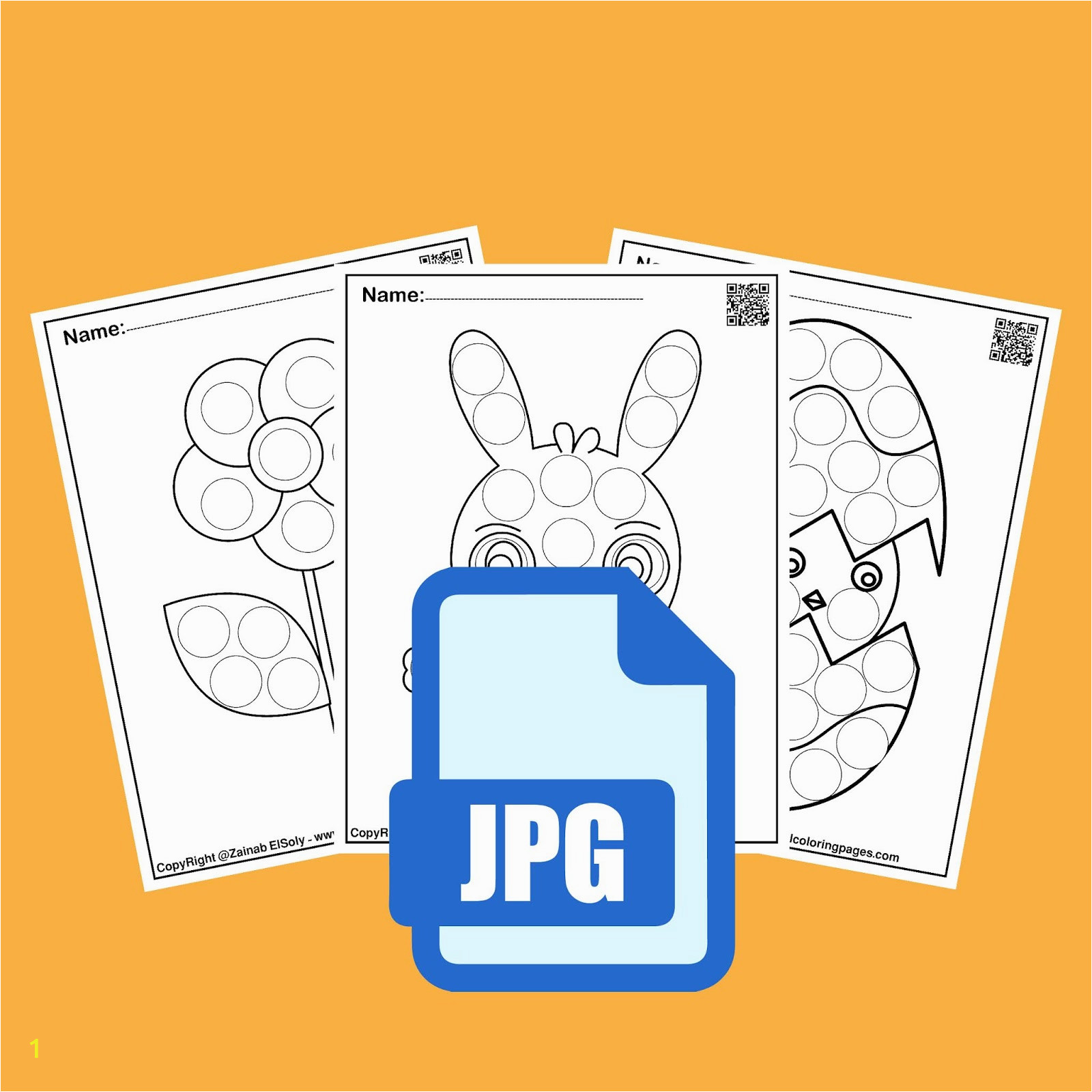 1 activities for spring do a dot marker preschool coloring pages free printable for kids 01