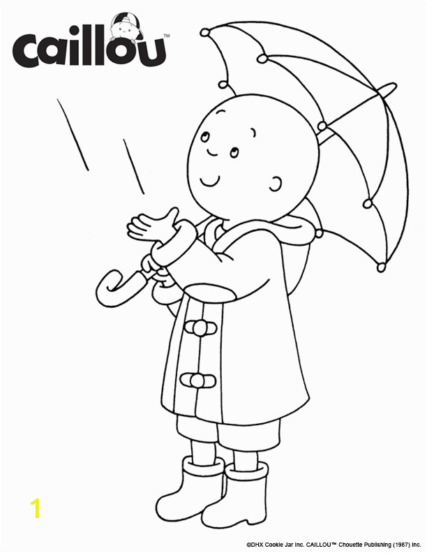 Coloring Pages for Rainy Days Print & Color Caillou Rainy Day Coloring Sheet Activity