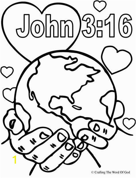 Coloring Pages for Sunday School Coloring Worksheets for Kids School and John 3 16 Coloring