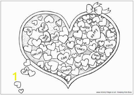 Coloring Pages for Valentines Cards Valentine Candy Colouring Page with Images