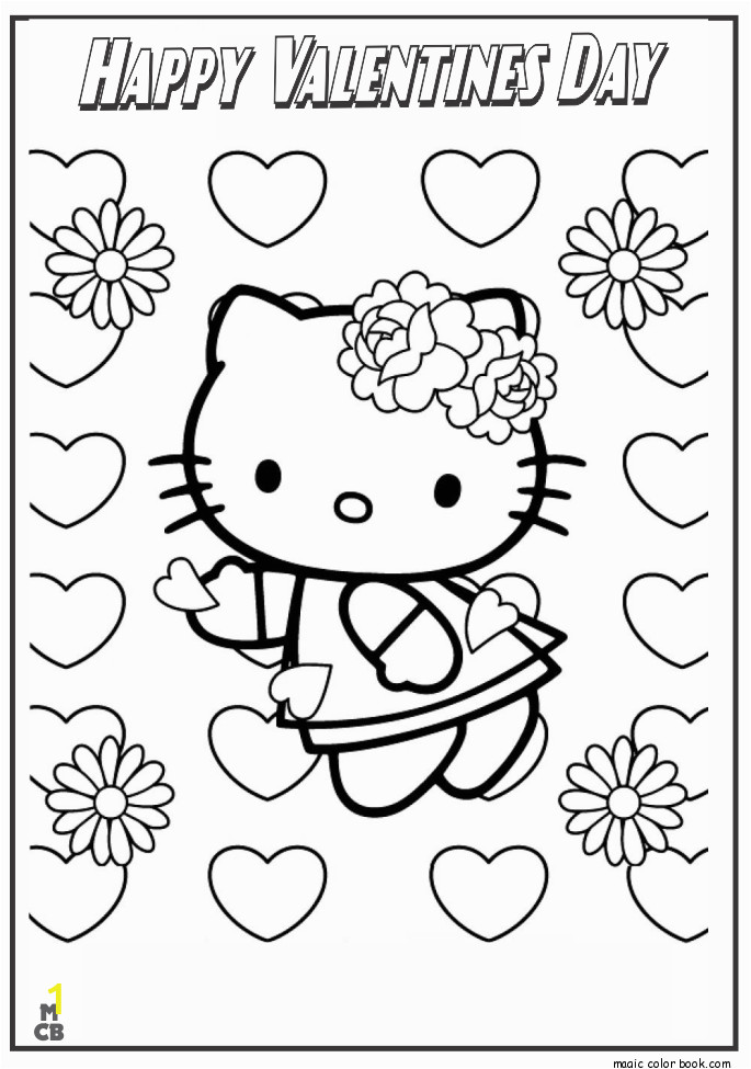valentines day hello kitty coloring pages coloring home hello kitty valentines day png 685 975