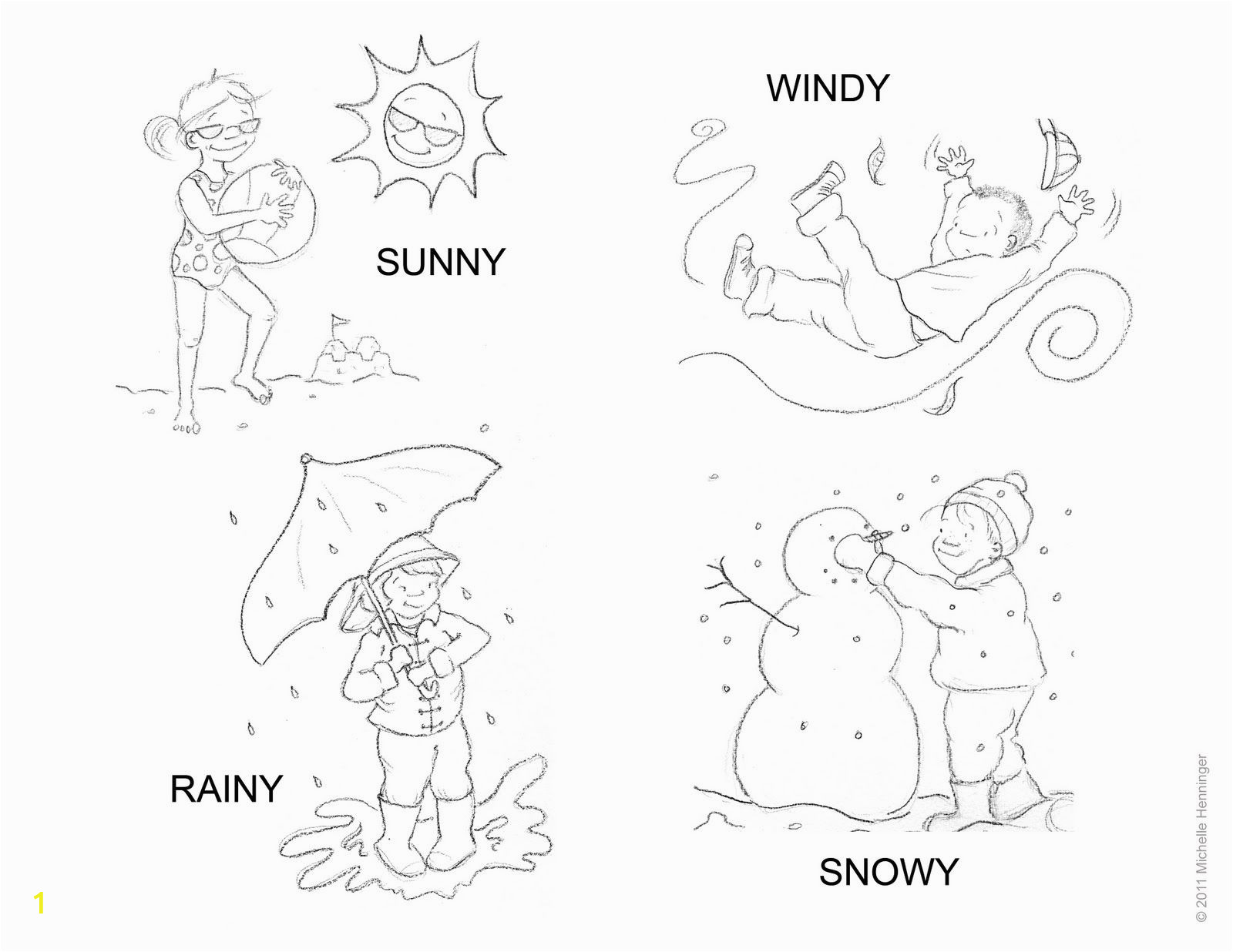 Coloring Pages for Weather Symbols Weather Coloring 19 1600×1236 with Images