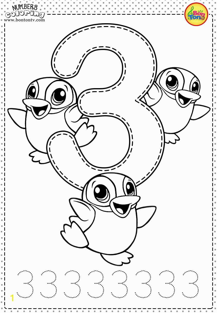 Coloring Pages for Young Learners Number 3 Preschool Printables Free Worksheets and