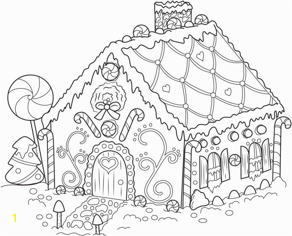Coloring Pages Gingerbread Houses Printable Gingerbread House Coloring Pages