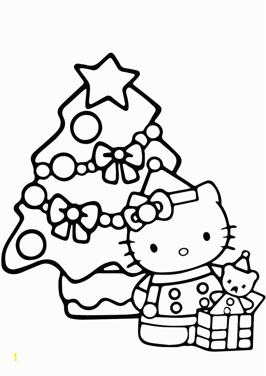Hello Kitty Christmas Gift Coloring Pages