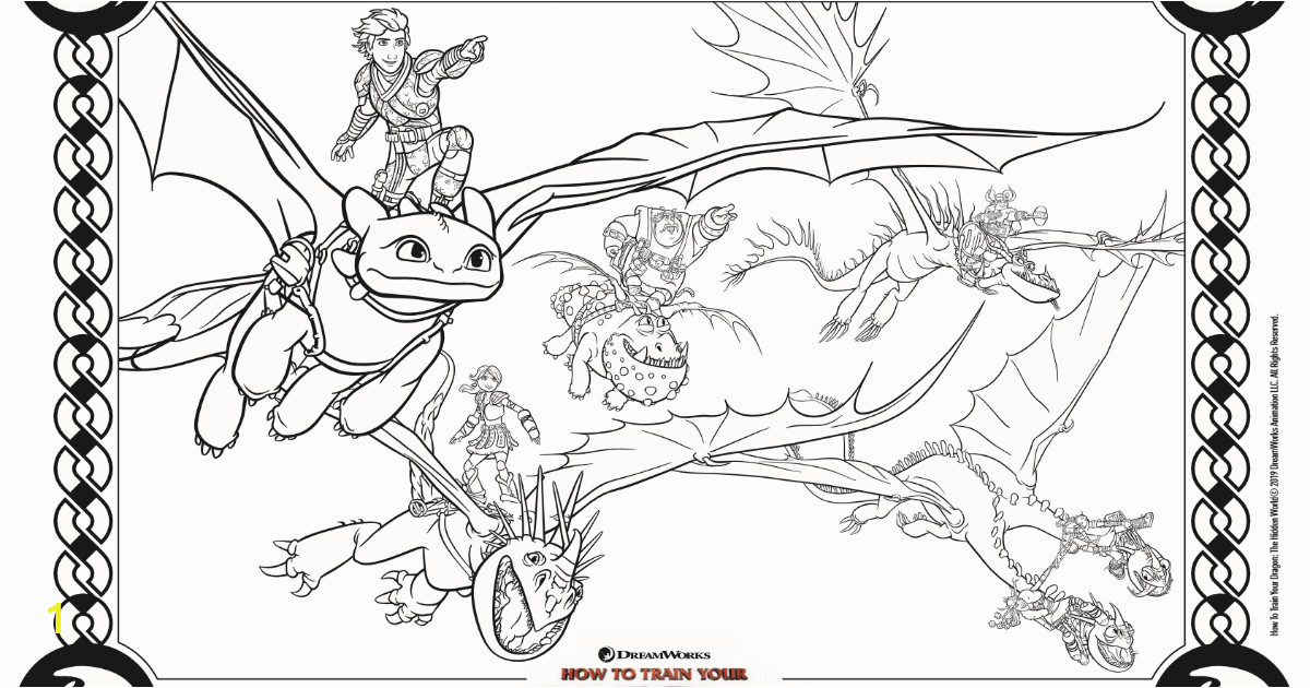 feature dragons coloring page