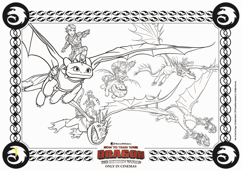 full dragons coloring page