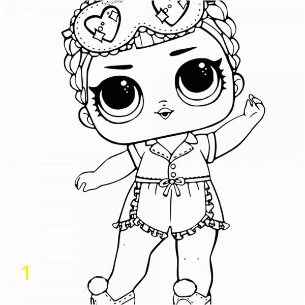 Coloring Pages Lol Dolls Printable Mermaid Lol Surprise Doll Coloring Pages Merbaby with