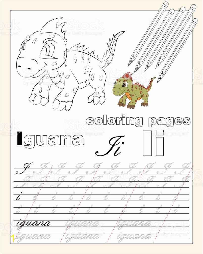 illustration 9 coloring pages of the english alphabet with animal a vector id