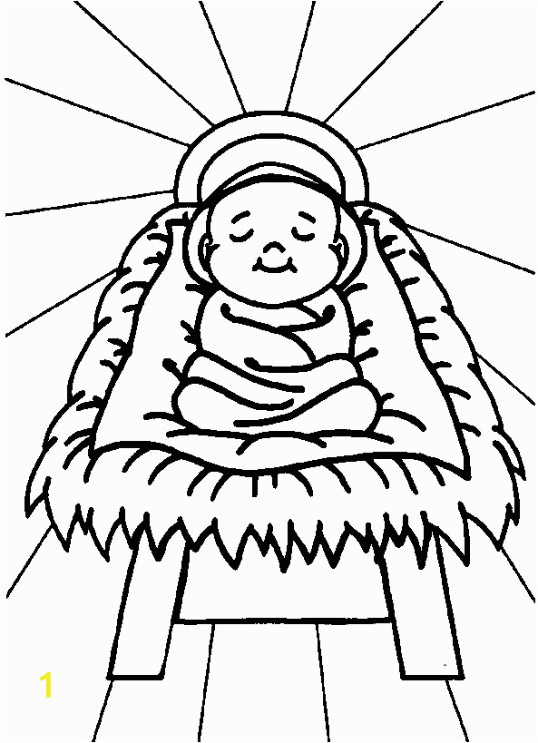 free nativity coloring baby jesus