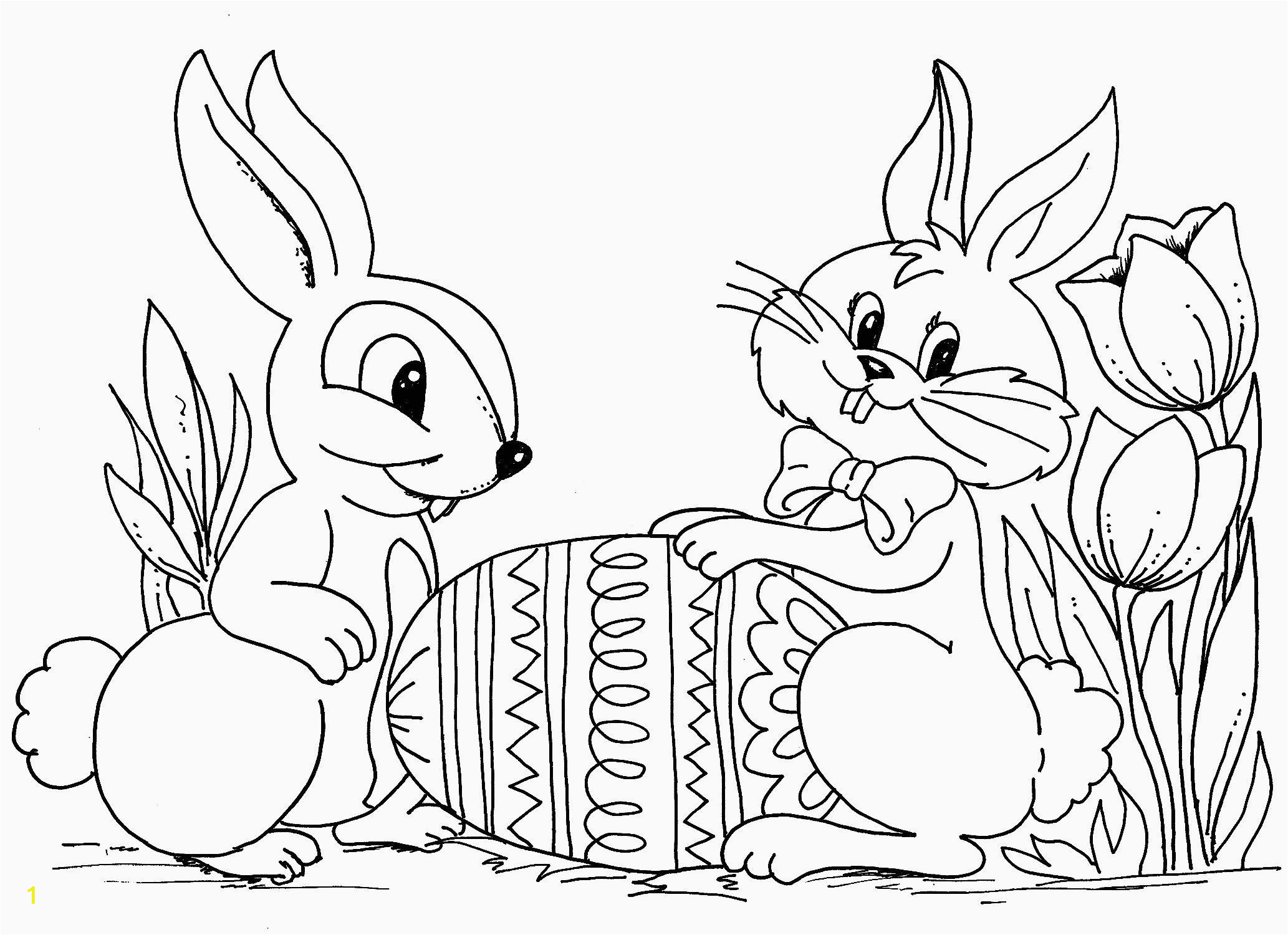 Coloring Pages Of Bunnies Printable Pin On Best Spring Coloring Pages