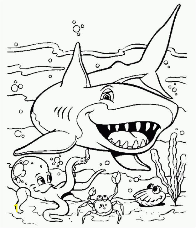 new coloring pages shark easy